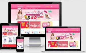 Template blogspot bán váy đầm thời trang