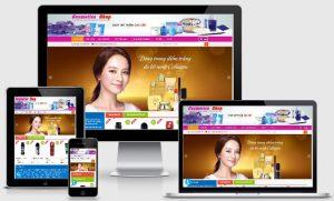 Template blogspot bán mỹ phẩm online chuẩn SEO
