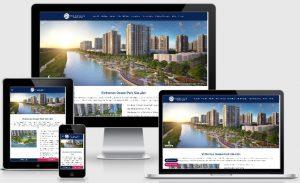 Template blogspot bất động sản Vinhomes 1 dự án